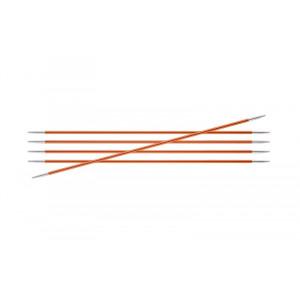 Image of   KnitPro Zing Strømpepinde Aluminium 15cm 2,75mm / 5.9in US2 Carnelian