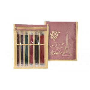 KnitPro Royalé Strømpepindesæt Birk 20cm 2,5-5mm 6 størrelser