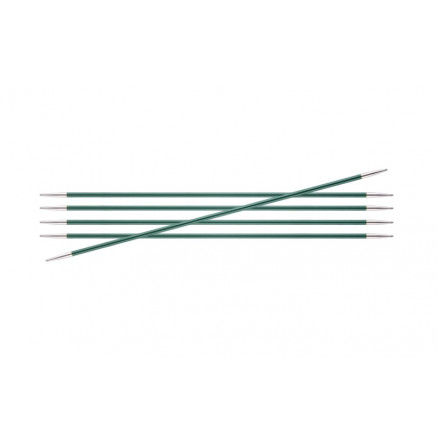 Image of   KnitPro Zing Strømpepinde Aluminium 15cm 3,00mm / 5.9in US2½ Jade