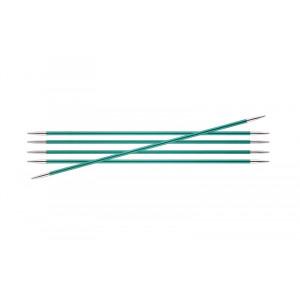 KnitPro Zing Strømpepinde Aluminium 15cm 3,25mm / 5.9in US3 Emerald