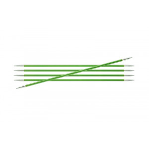 KnitPro Zing Strømpepinde Aluminium 15cm 3,50mm / 5.9in US4 Chrysolite