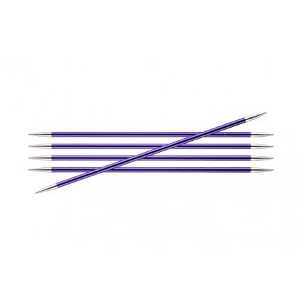 Knitpro Zing Strømpepinde Aluminium 15cm 3,75mm / 5.9in Us5 Amethyst