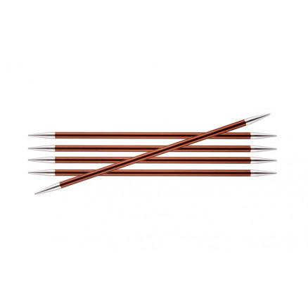Knitpro Zing Strømpepinde Aluminium 15cm 5,50mm / 5.9in Us9 Sienna