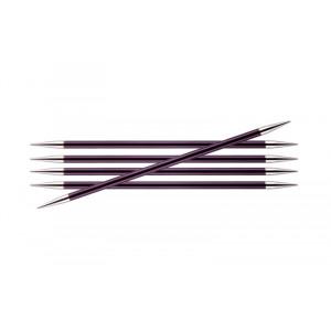 KnitPro Zing Strømpepinde Aluminium 15cm 6,00mm / 5.9in US10 Purple Ve