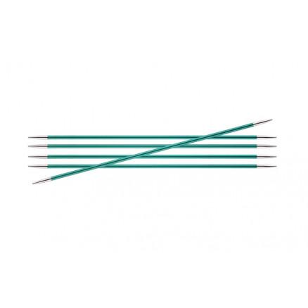 Knitpro Zing Strømpepinde Aluminium 15cm 8,00mm / 5.9in Us11 Emerald