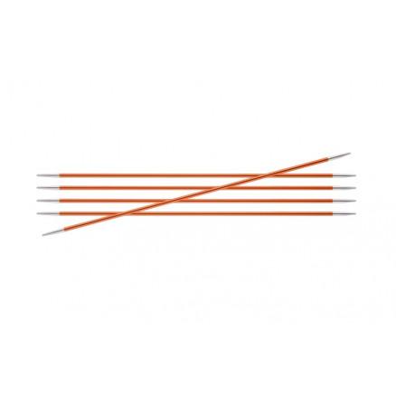 Knitpro Zing Strømpepinde Aluminium 20cm 2,75mm / 7.9in Us2 Carnelian