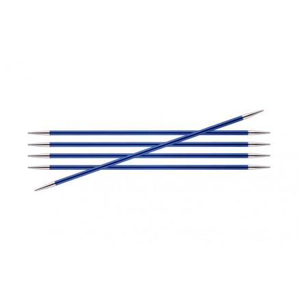 Knitpro Zing Strømpepinde Aluminium 20cm 4,00mm / 7.9in Us6 Sapphire