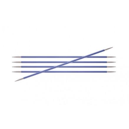 Knitpro Zing Strømpepinde Aluminium 20cm 4,50mm / 7.9in Us7 Iolite