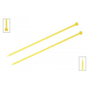 KnitPro Trendz Strikkepinde / Jumperpinde Akryl 25cm 6,00mm / 9.8in US10 Yellow
