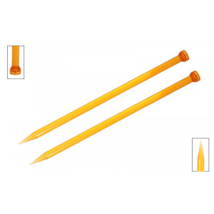 KnitPro Trendz Strikkepinde / Jumperpinde Akryl 25cm 10,00mm / 9.8in US15 Orange