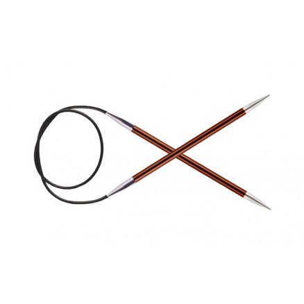 Knitpro Zing Rundpinde Aluminium 120cm 5,50mm / 47.2in Us9 Sienna
