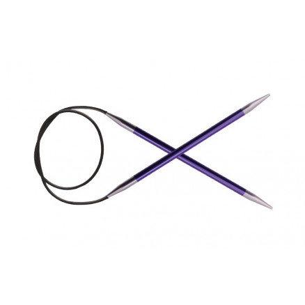 Image of   KnitPro Zing Rundpinde Aluminium 150cm 3,75mm / 59in US5 Amethyst