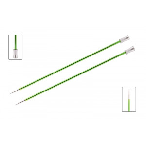 KnitPro Zing Strikkepinde / Jumperpinde Aluminium 25cm 3,50mm / 9.8in US4 Chrysolite