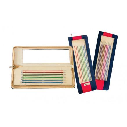 Knitpro Zing Strømpepindesæt Aluminium 20 Cm 2,5-5 Mm 6 Størrelser