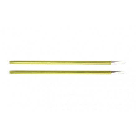 Knitpro Zing Udskiftelige Rundpinde Aluminium 13cm 3,50mm / Us4 Chryso
