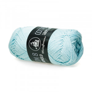 Mayflower Cotton 8/4 Garn Unicolor 1455 Isblå