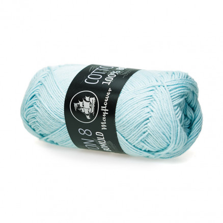 Image of   Mayflower Cotton 8/4 Garn Unicolor 1455 Isblå