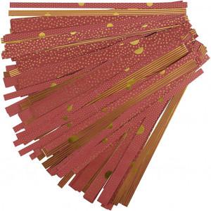 Stjernestrimler Rød/Guld Mønster 44-86cm 15-25mm Diameter 6,5-11,5cm - 480 stk