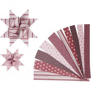 Vivi gade stjernestrimler rosa mønster 44-86cm 15-25mm diameter 6,5-11 fra Vivi gade fra rito.dk