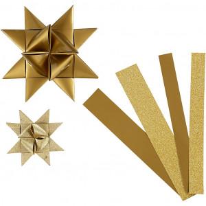 Vivi gade Vivi gade stjernestrimler guld/glitter/lak mønster 44-86cm 15-25mm dia på rito.dk