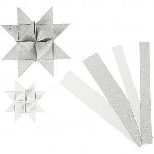 Vivi gade – Vivi gade stjernestrimler hvid/glitter/lak mønster 44-86cm 15-25mm dia på rito.dk