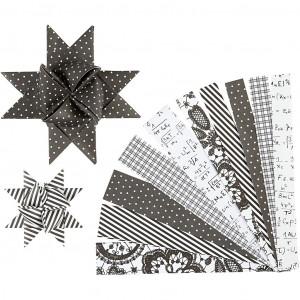 Image of   Vivi Gade Stjernestrimler Paris Sort/Hvid 44-86cm 15-25mm Diameter 6,5