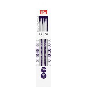 Prym Ergonomics Strømpepinde Plast 20cm 3,00mm / 7.9in US2½