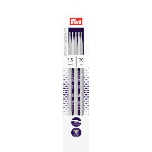 Prym Ergonomics Strømpepinde Plast 20cm 3,50mm / 7.9in US4