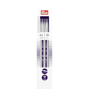 Prym Ergonomics Strømpepinde Plast 20cm 4,50mm / 7.9in US7