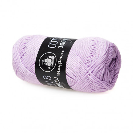 Image of   Mayflower Cotton 8/4 Garn Unicolor 1452 Pastel Lilla
