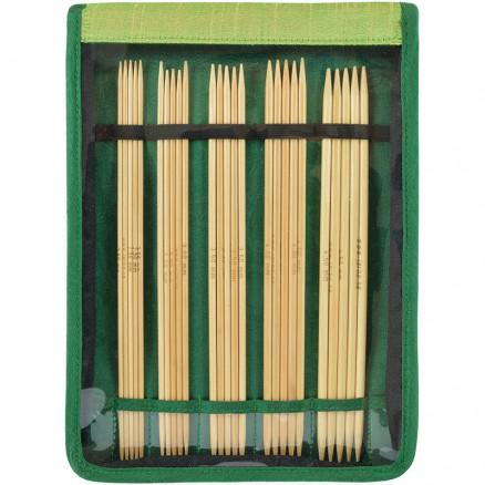 Järbo Bambu Strømpepindesæt Bambus 20cm 2,5-4,5mm 5 Størrelser