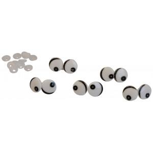 Infinity Hearts Sikkerhedsøjne / Amigurumi øjne med øjenlåg 16mm - 5 s