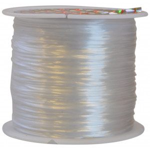 Elastik Nylon Hvid 0,8mm 50m