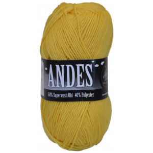 Mayflower Andes Garn Unicolor 02 Gul