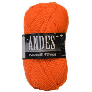 Mayflower Andes Garn Unicolor 03 Lys Orange