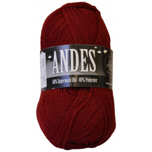 Mayflower Andes Garn Unicolor 10 Vinrød