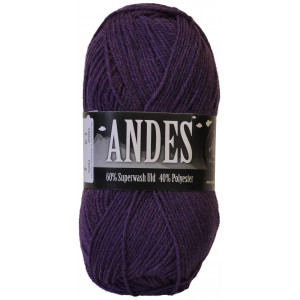 Mayflower Andes Garn Unicolor 12 Lilla