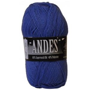 Mayflower Andes Garn Unicolor 16 Jeansblå