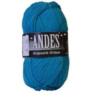 Mayflower Andes Garn Unicolor 17 Turkis