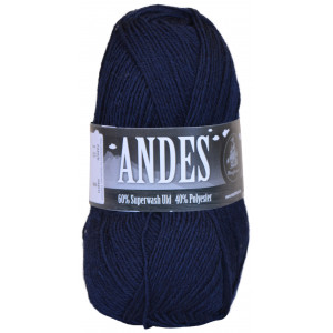 Mayflower Andes Garn Unicolor 18 Marineblå