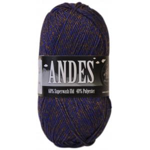 Mayflower Andes Garn Mix 23 Blå/Gylden