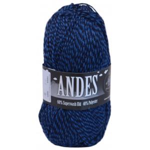 Mayflower Andes Garn Mouline 24 Blå