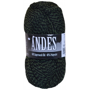 Mayflower Andes Garn Mouline 26 Grøn/Sort