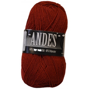 Mayflower Andes Garn Unicolor 41 Julerød