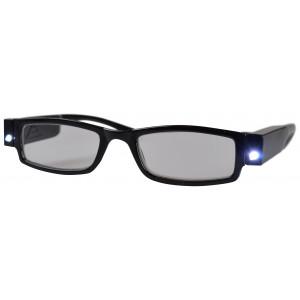 Briller Styrke +2 med LED lys