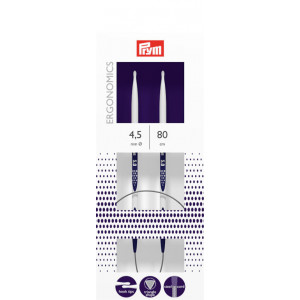 Prym Ergonomics Rundpinde Plast 80cm 4,50mm / 31.5in US7