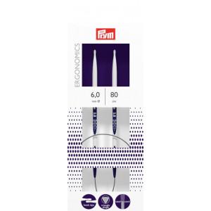 Prym Ergonomics Rundpinde Plast 80cm 6,00mm / 31.5in US10