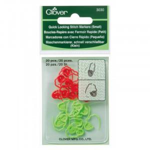 Image of   Clover Maskemarkører Små 15 mm i rød og grøn - 20 stk