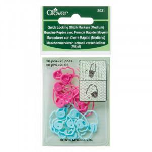 Image of   Clover Maskemarkører Medium 20 mm i pink og blå - 20 stk