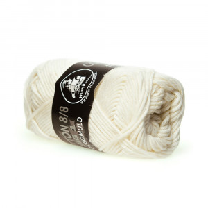 Mayflower Cotton 8/8 Big Garn Unicolor 602 Råhvid